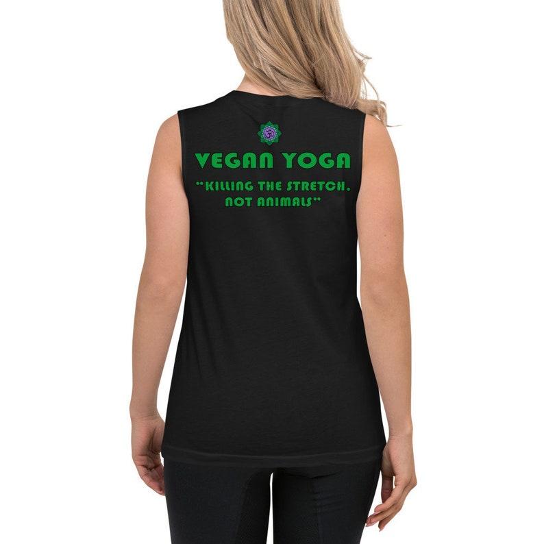 Vegan Yoga Unisex Sleeveless Shirt  Yoga Fashion  Vegan image 0