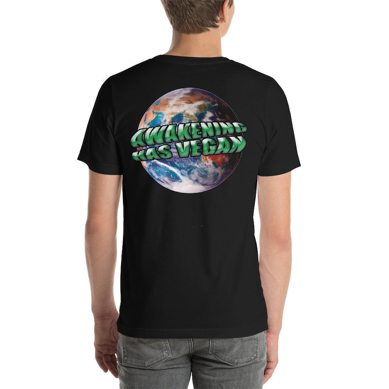Awakening Has Vegan Unisex T-Shirt image 0
