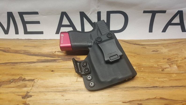 Glock 43 43X Streamlight TLR-6 Kydex Appendix Holster ** ready to  Ship**Lifetime Warranty**BLK** AIWB ** with Claw