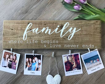 Mothers Day Gift | Gifts for Her | Rustic Sign | Wooden Sign | Photograph display | Home Decor |