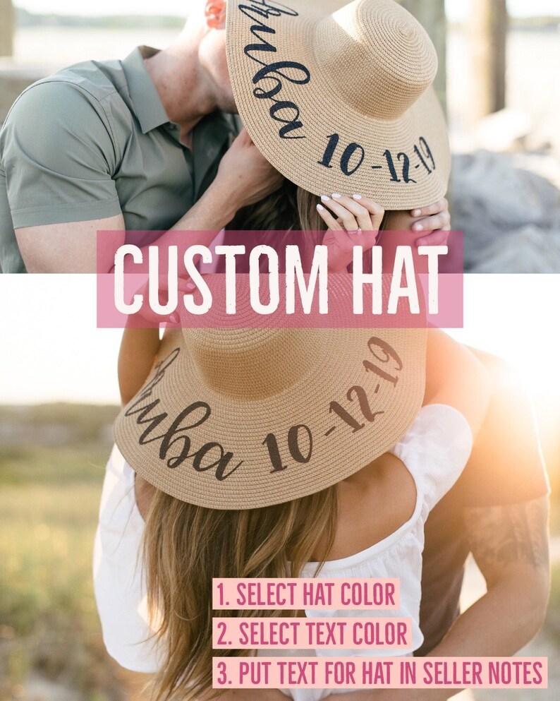 15d87c622f93b Personalized Sun Hat Floppy Beach Hat Floppy Sun Hat Custom