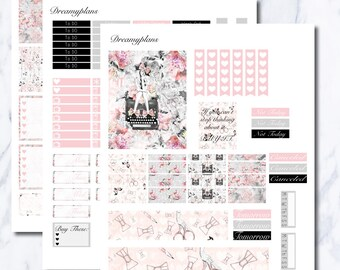 The Fashion Blogger Printable Vertical Erin Condren Planner Stickers Kikki K Personal