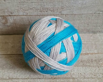 DYED TO ORDER: Hand Dyed Self Striping Sock Yarn ~ Ice Cave ~
