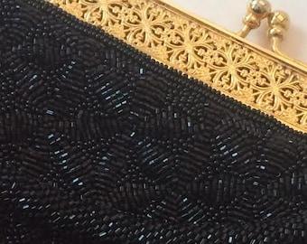 Vintage 1970s Ranee's Clothers Hand Beaded Handbag Made in Hong Kong NEW Never Used