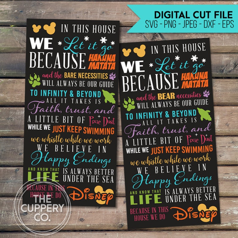 We Do Disney SVG  2 Digital files Silhouette Studio DXF image 0
