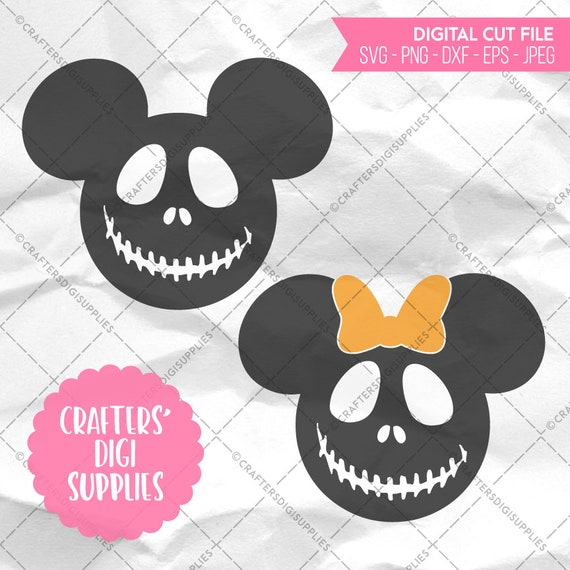 Mickey Minnie Nightmare Before Christmas Jack Skellington Etsy