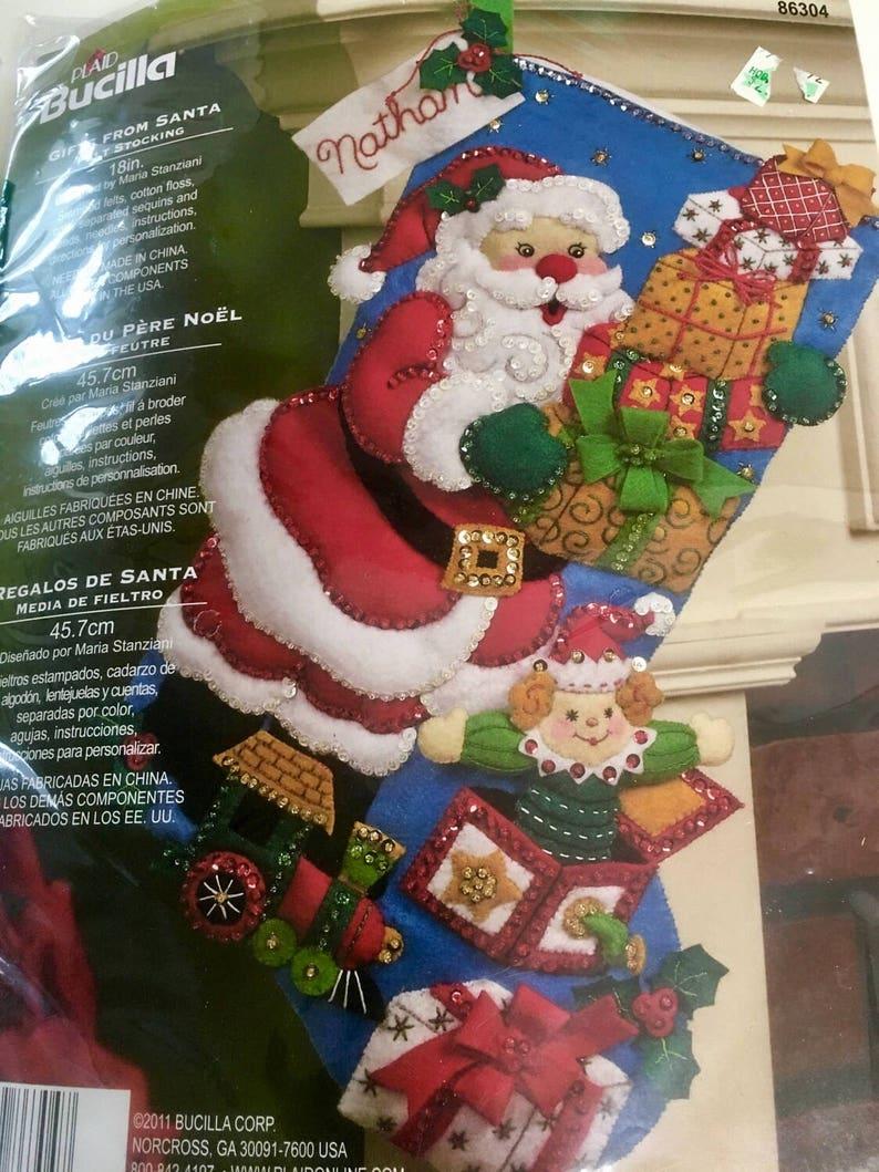4bcbf6362ad NEW sealed Bucilla Gifts From Santa Christmas stocking KIT
