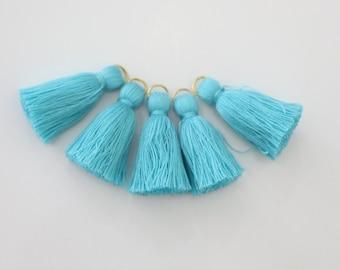 5 Mini Blue Cotton Threads DIY Jewelry Making