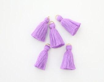 5 Mini Purple Cotton Threads DIY Jewelry Making