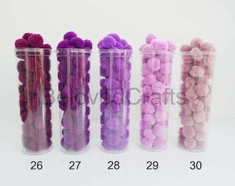 Decoration Party Purple Yarn Pom Poms 50 Pieces
