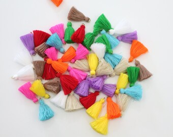 Mixed Colors 5 Mini Cotton Threads DIY Jewelry Making