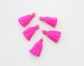 5 Mini Pink Cotton Threads DIY Jewelry Making