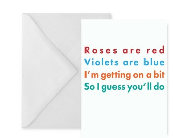 Funny Valentine card   Funny love card   Funny cards for men and women   Love you funny card   Valentine card her   Valentine card him