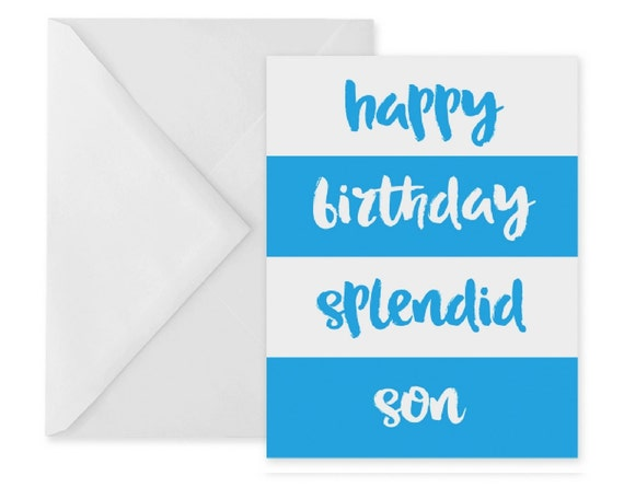 Birthday Card For Son Happy