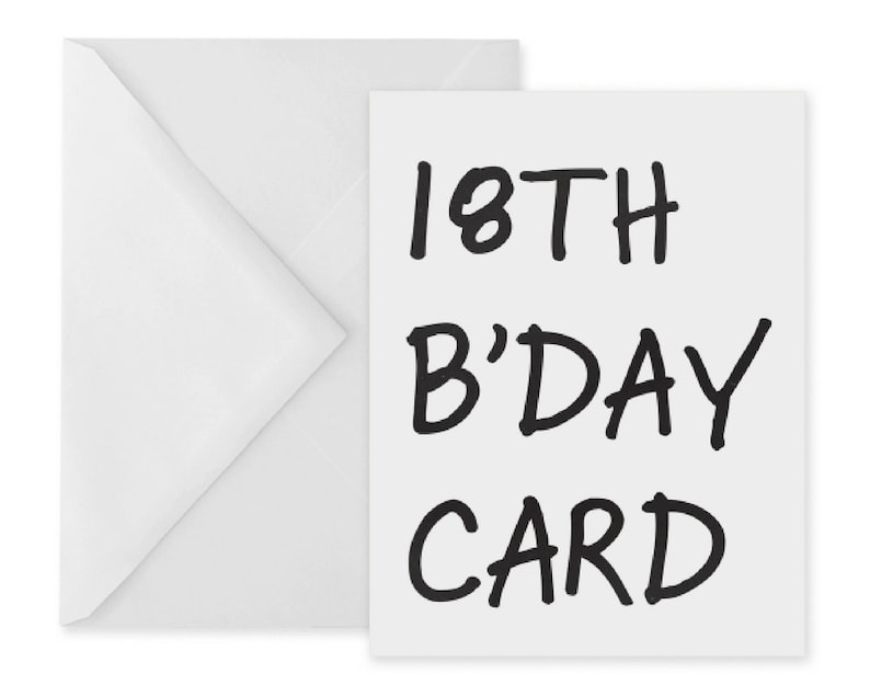 18th Birthday Card Printable Cards Simple