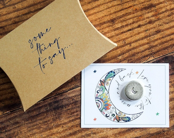 Pocket Token. 'Love You To The Moon And Back' Personalised Card Alternative. Pocket Hug
