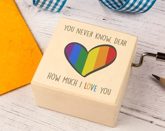 You Are My Sunshine Music Box. Unusual Gift For Teenagers, Partners or Friends. Personalised Wooden Keepsake Box.