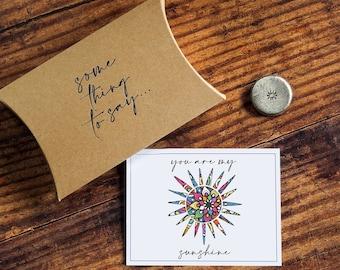 Personalised Pocket Token. 'You Are My Sunshine' Card Alternative. Pocket Hug