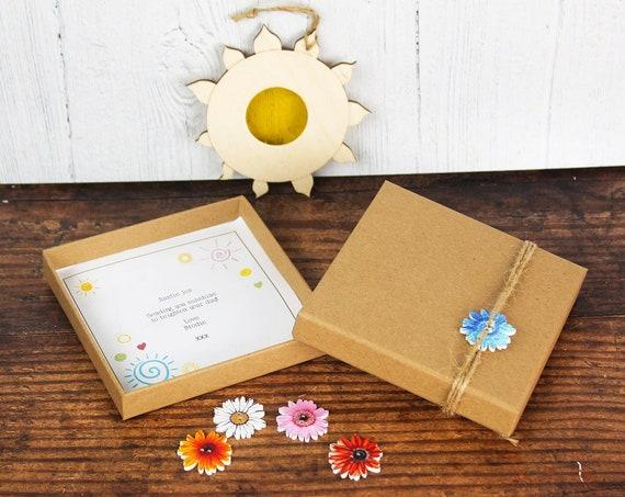 Suncatcher Gift. Personalised Wooden Sun Window Decoration