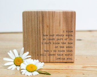 Personalised Wedding Gift. Wood Quote Block. Bride Wedding Day Gift. Bride To Groom Gift