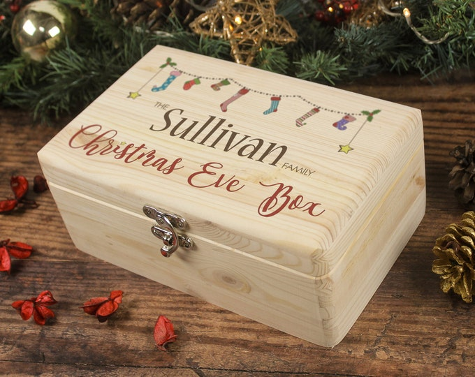 Featured listing image: Christmas Eve Box, Family Christmas Eve Box, Personalised Christmas Gift, Memory Box, Christmas Box, Night Before Christmas, 24th December