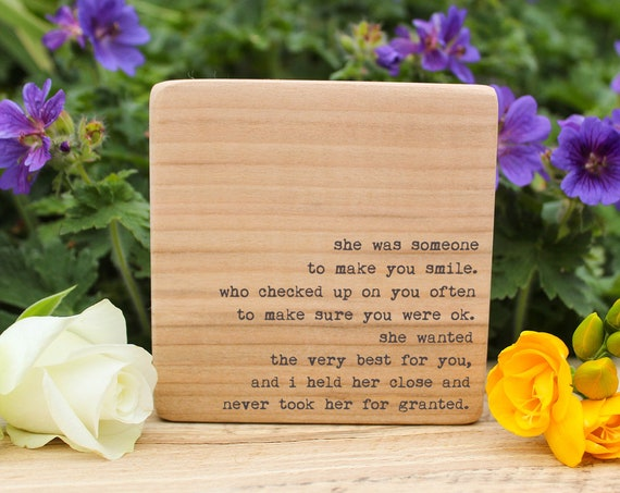 Mother's Day Gift. Personalised Quote Block. Perfect keepsake for Mums.