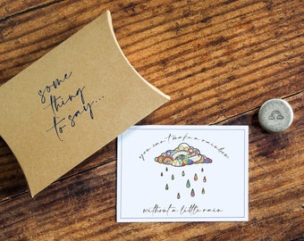 Rainbow Personalised Pocket Token. Letterbox Gift.  'You Can't Have a Rainbow Without A Little Rain' Pocket Hug
