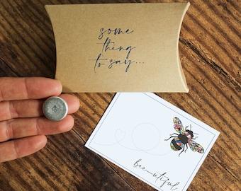 Bee-utiful Personalised Pocket Token. Card Alternative. Bee Lover's Pocket Hug