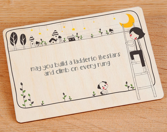 Inspirational Wooden Postcard - TreeMail
