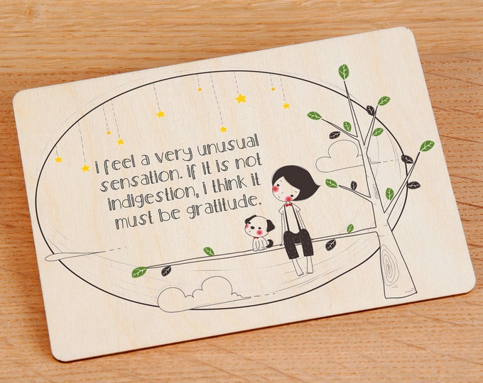 Thank You Card - Wooden Postcard - TreeMail