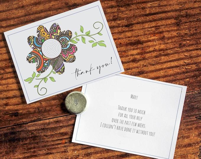 Featured listing image: Personalised Pocket Token. 'Thank You' Card Alternative. Pocket Hug. Teacher Gift