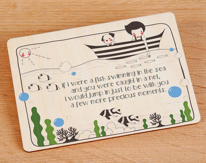 Friendship Wooden Postcard  - TreeMail