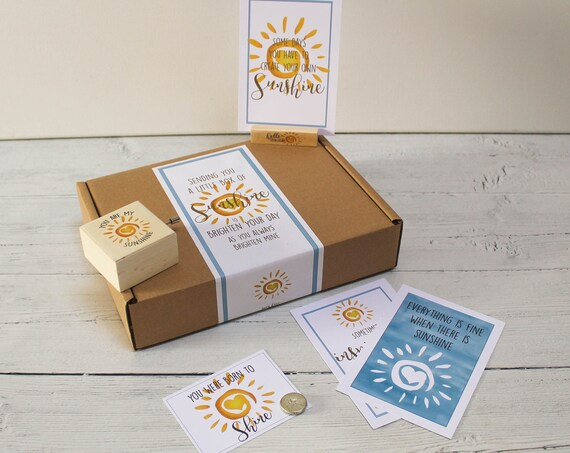 You Are My Sunshine Personalised Letterbox Gift Kit. Self Care Package