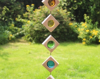 Stained Glass Suncatcher. Rainbow Sun Catcher.