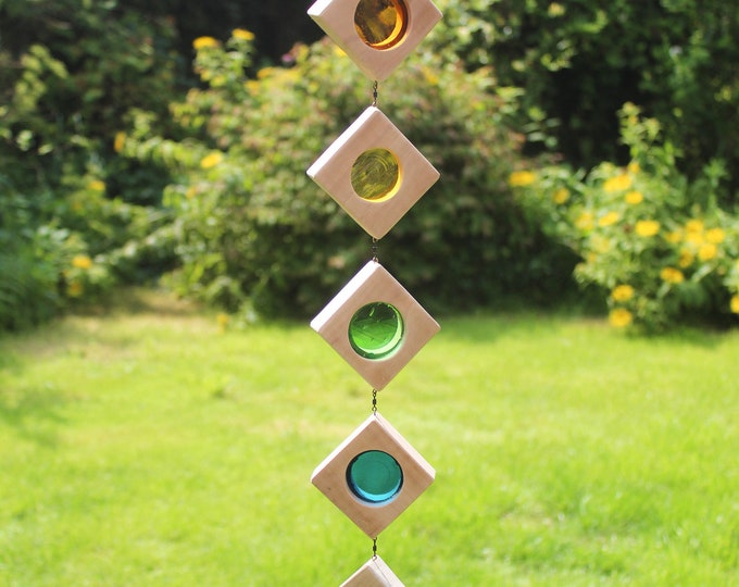 Featured listing image: Stained Glass Suncatcher. Rainbow Sun Catcher.