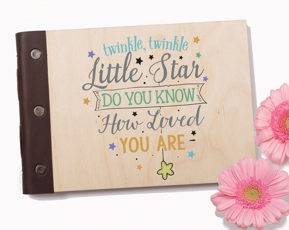 Baby's First Journal, Baby Memory Book, Photo Album, Baby Shower Gift, Christening Book, New Mom Gift, New Baby Gift, Twinkle Little Star