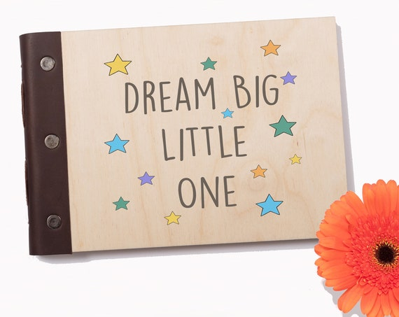 Baby's First Journal, Baby Memory Book, Photo Album, Baby Shower Gift, Christening Book, New Mom Gift, New Baby Gift, Dream Big Little One