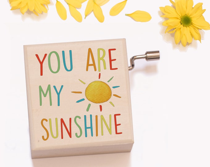 You Are My Sunshine Music Box | Great Gift for Baby Showers, Baptisms, New Babies & Mums!