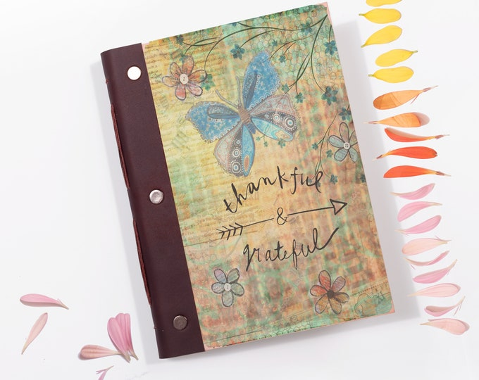 Gratitude Journal  Scrapbook  Journal  Photo Album  Thankful & Grateful  Bullet Journal  Daily Planner  Mindfulness Gift  Writing Journal
