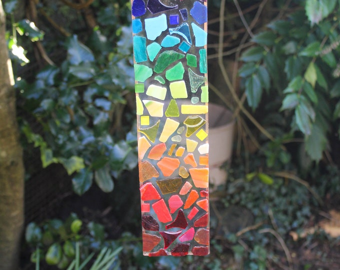 Featured listing image: Glass Mosaic Hanging Suncatcher. Rainbow Sun Catcher. Re-Cycled Glass Decoration