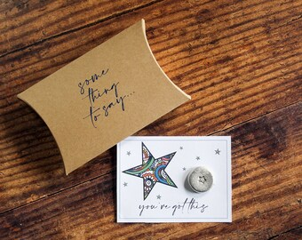Personalised Pocket Token. 'You've Got This' Card Alternative. Pocket Hug
