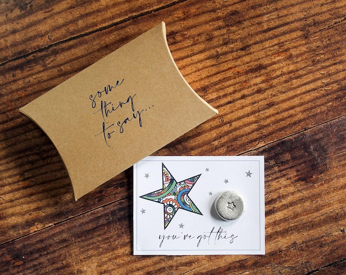 Featured listing image: Personalised Pewter Pocket Token Some Thing To Say You've Got This Card Alternative