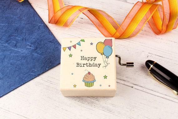 Happy Birthday Music Box. Personalised Wooden Keepsake Box. Special Unique Birthday gift.