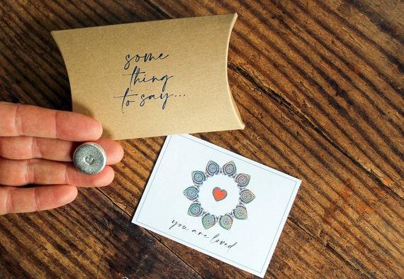 Pocket Token. 'You Are Loved' Card Alternative. Personalised Pocket Hug