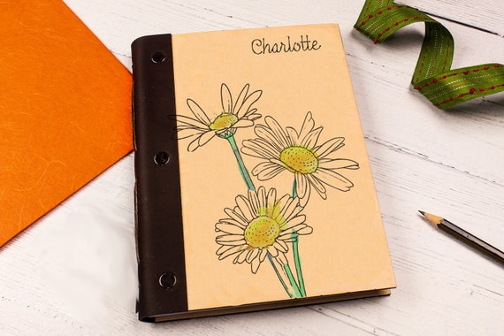 Personalised Wooden Notebook. A5 Wood Writing Journal. Mindfulness Gift