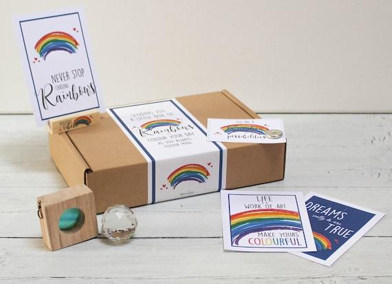 Rainbow Letterbox Gift. Rainbow Positivity Self Care Package