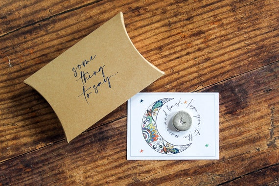 Personalised Pocket Token. 'Love You To The Moon And Back' Card Alternative. Pocket Hug