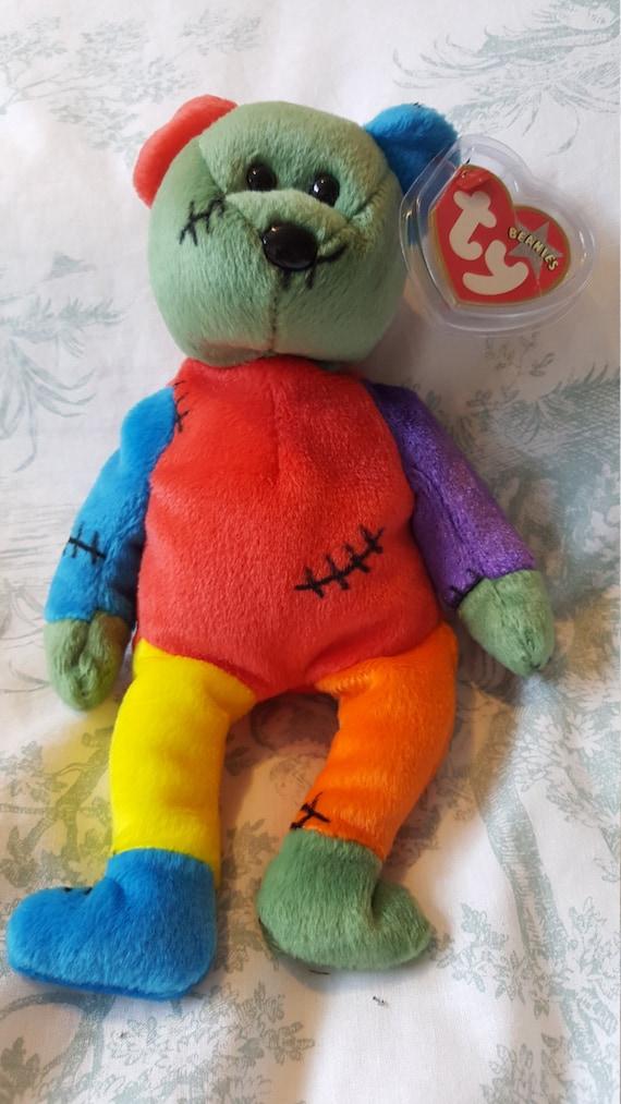fa0d7183a2e Frankenteddy Rare Beanie Baby Beanie Baby Errors Halloween