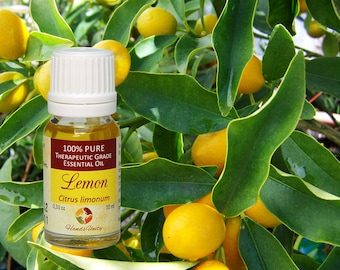 Natural LEMON ESSENTIAL OIL Natural 100% Pure Therapeutic Grade 10 ml 0.33 Oz from Italy