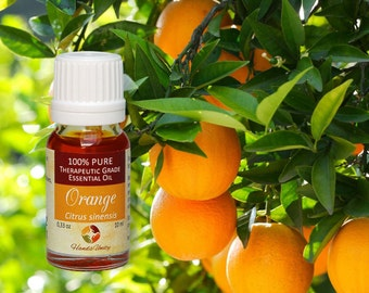 Natural SWEET ORANGE ESSENTIAL Oil Natural 100 % Pure Therapeutic grade 10ml 0.33Oz from Italy